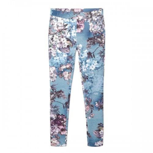 Spodnie w kwiaty Mango, cena