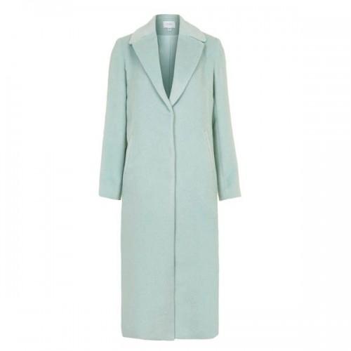 Miętowy płaszcz Topshop, cena