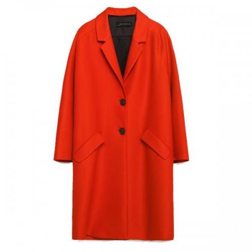 Czerwony płaszcz Zara, cena