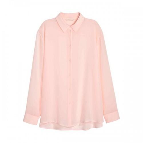 Pudrowo różowa koszula H&M, cena