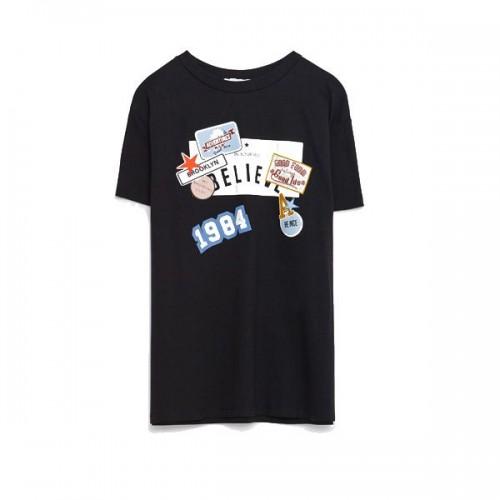 T-shirt z naszywkami Zara, cena