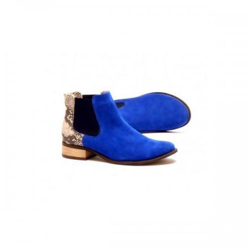 Niebieskie sztyblety Fejkiel, cena