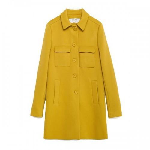Żółty płaszcz Zara, cena