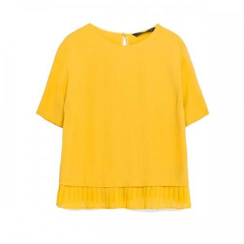 Żółta bluzka Zara, cena