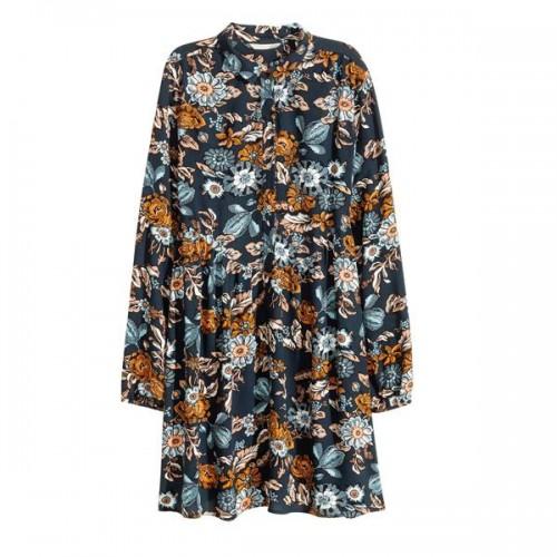 Wzorzysta sukienka z długimi rękawami H&M, cena