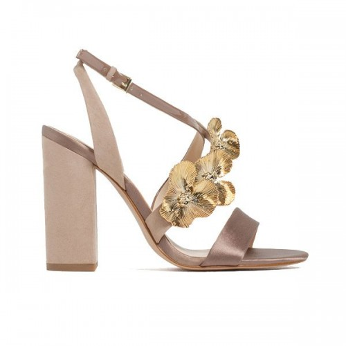 Sandały na obcasie Zara, cena