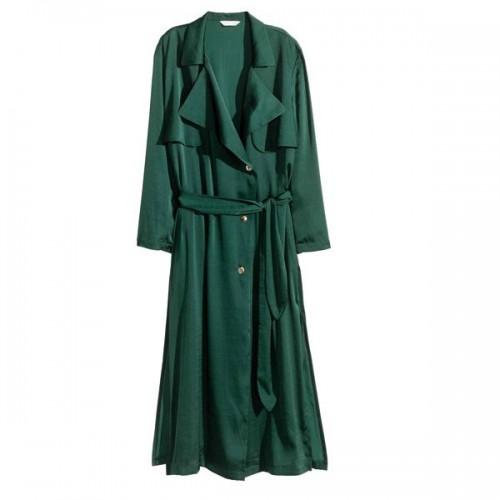 Zielony trencz H&M, cena