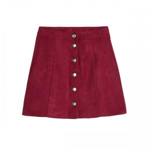 Bordowa spódnica H&M, cena