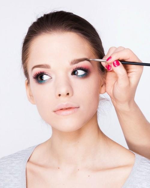 makijaż w stylu boho