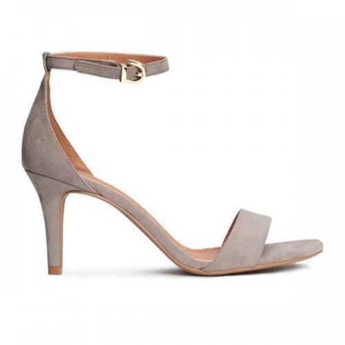 Szare sandały na obcasie H&M, cena