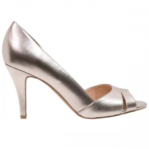 Metaliczne buty na obcasie Kiomi, cena
