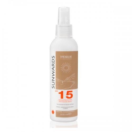 Emulsja do ciała w sprayu z filtrem SPF 15 przyspieszająca opalanie Synchroline, cena
