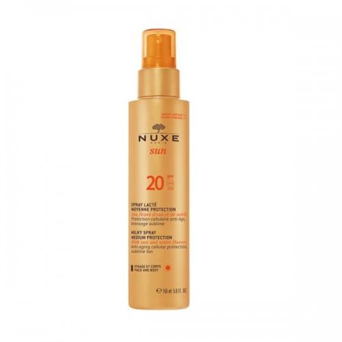 Mleczko-spray do opalania twarzy i ciała aktywujący proces naturalnego opalania Nuxe, cena