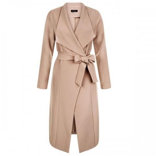 Beżowy płaszcz New Look, cena