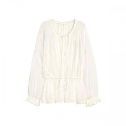 Biała bluzka w stylu boho H&M, cena