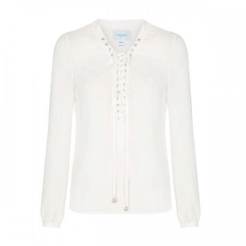 Biała bluzka z wiązaniem Topshop, cena