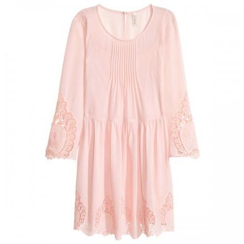 Pudrowo różowa sukienka H&M, cena
