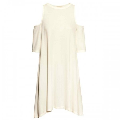 Biała sukienka z wycięciami na ramionach H&M, cena