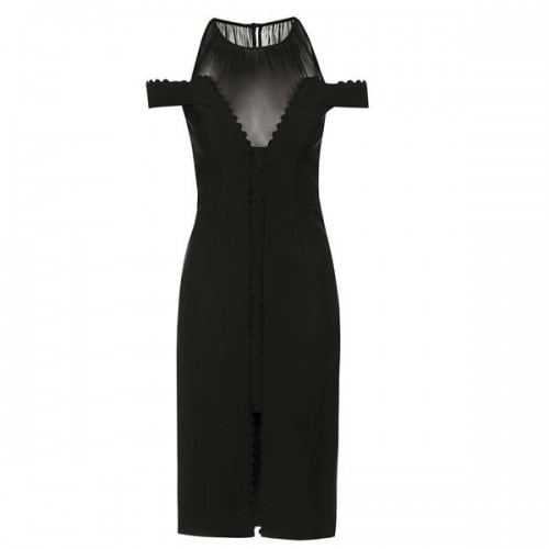 Czarna sukienka z wycięciami na ramionach Topshop, cena
