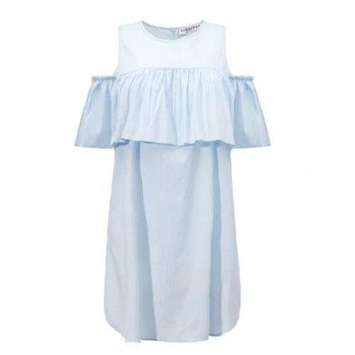 Błękitna sukienka z wyciętymi ramionami Sugarfree, cena