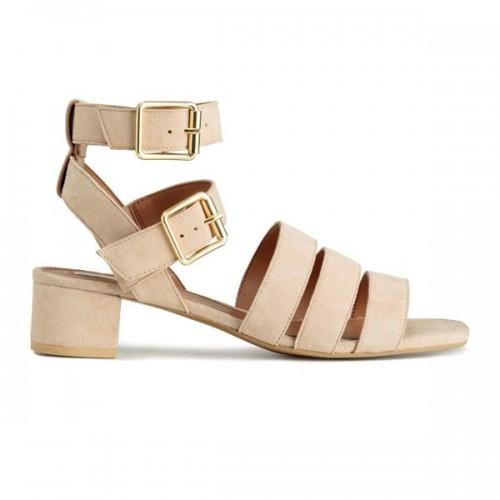 Sandały na niskim obcasie H&M, cena