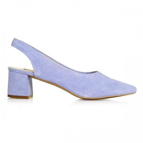 Fioletowe buty na niskim obcasie Topshop, cena