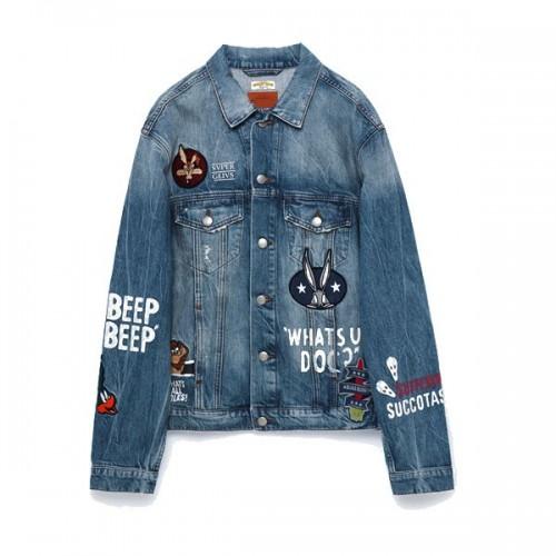 Dżinsowa kurtka z naszywkami Zara, cena