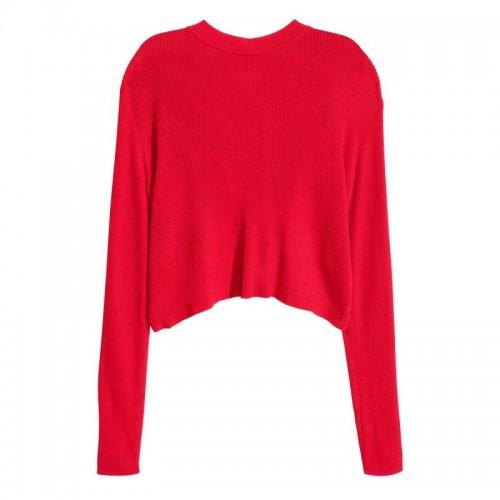 Czerwona bluzka H&M, cena