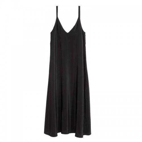 Czarna sukienka na cienkich ramiączkach Zara, cena