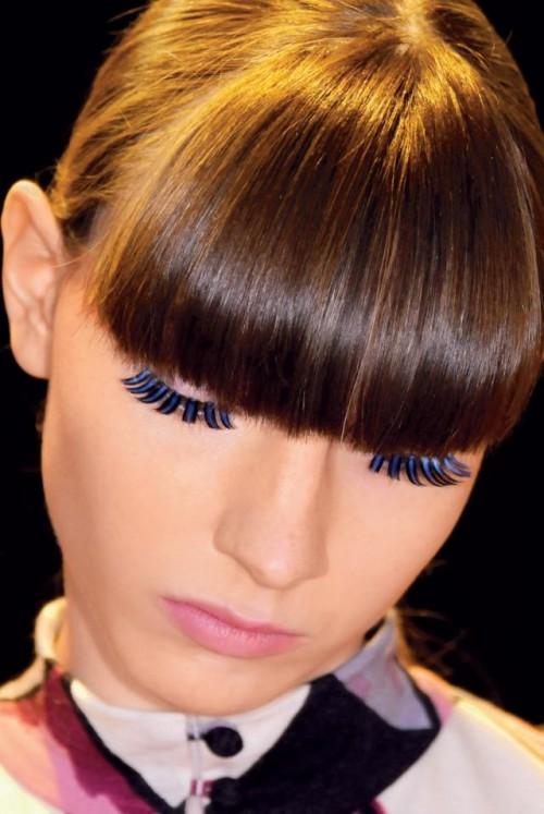 kobieta, modelka, makijaż, fryzury, sztuczne rzęsy