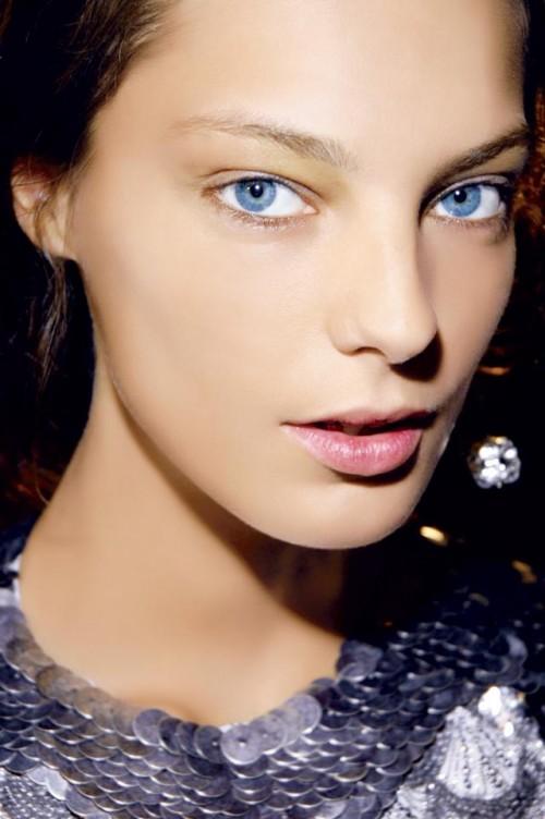 kobieta, modelka, makijaż