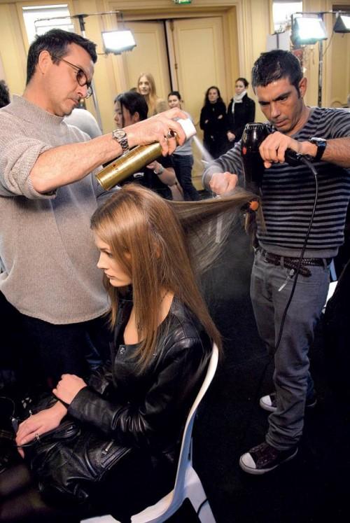 kobieta, modelka, włosy, fryzury, fryzjer