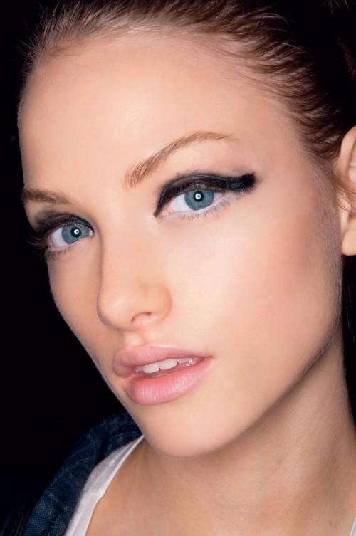 kobieta, makijaż, fryzury, modelka