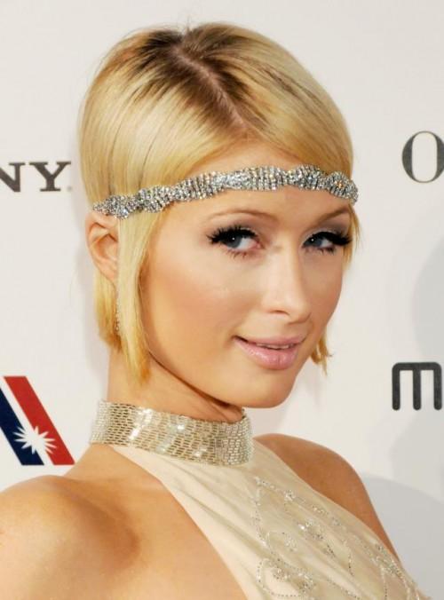 Paris Hilton, makijaż, fryzury