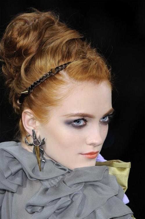 Zac Posen, trendy jesień zima 2009, fryzury ślubne