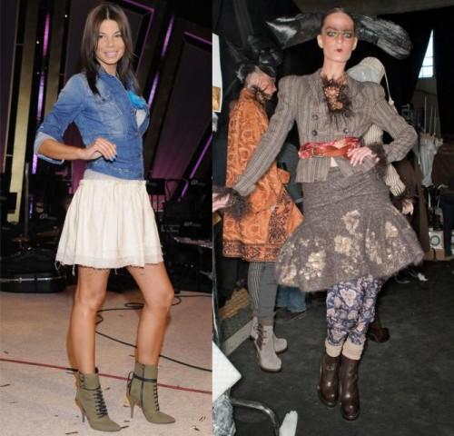 b51e315bbc640 Ostrożniejsze powinny być te z was, które wybrały cięższe botki, takie jak  ma na zdjęciu Ania Przybylska. Takie buty trzeba odpowiednio zrównoważyć,  ...