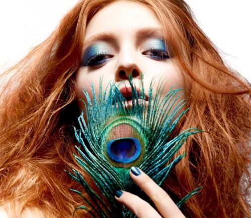 Sephora, makijaż, jesień 2011, Imperial Blue, modny look