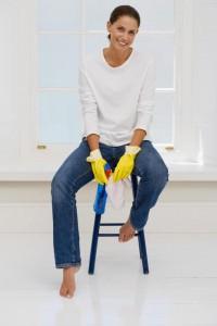 kobieta, porządki, sprzątanie