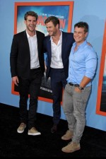 Chris Hemsworth, Liam Hemsworth, Luke Hemsworth na premierze filmu Vacation