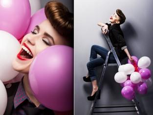 impreza, balony, andrzejki, uśmiech