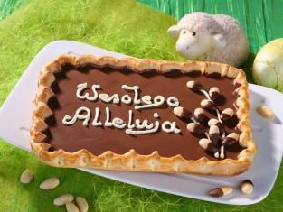 mazurek czekoladowy przepis, przepis na mazurek czekoladowy, wielkanocny mazurek przepis