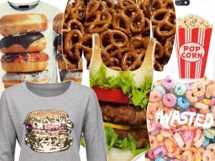 Modne ubrania z jedzeniem