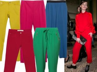 Spodnie w intensywnych kolorach