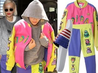 Rita Ora w ubraniach adidas Originals