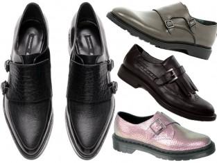 Buty ze sprzączką monk-strap