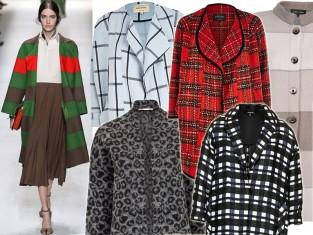 Wzorzysty płaszcz na jesień 2014