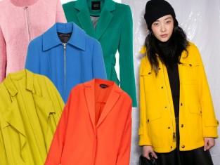 Kolorowe kurtki i płaszcze na jesień