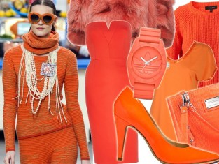 Pomarańczowe ubrania i dodatki
