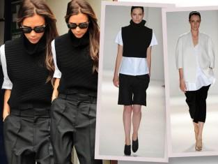 Victoria Beckham w bieli i czerni