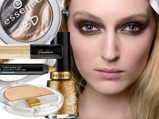 Złote kosmetyki na jesień 2014